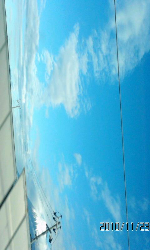 青空だぁ(^O^)